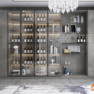 艾卡全铝家居-铝合金酒柜